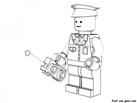 Printable Lego Policeman Coloring Pages Superheroes Fargelegge Tegninger Clipart Color Games Online How T Lego Coloring Pages Lego Coloring Lego Coloring Sheet