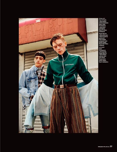 Luca Bertea at Red and Omar Ahmed at Fusion photographed by David Urbanke and styled by Alex Badia, for the April 2016 issue of WWD magazine. Luca and Omar wear rising streetwear brands including... »