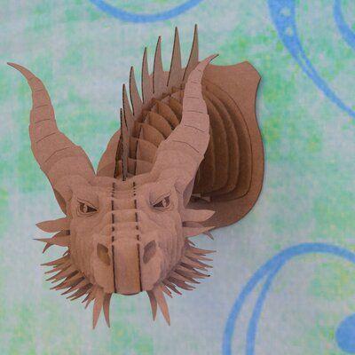 """Cardboard Safari Stewart Cardboard Bear Head Wall Décor Size: 31.3"""" H x 46.3"""" W x 39"""" D, Finish: Brown"""