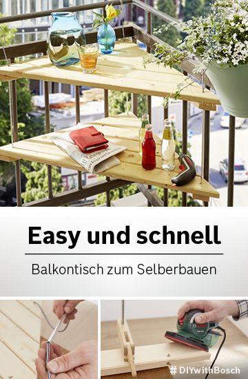 Diy Balkontisch Schnell Selbst Gemacht Balkontisch Lichterkette Draussen Wohnung Balkon Dekoration