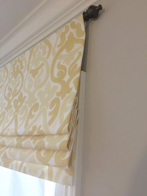 Faux Fake Flat Roman Shade Valance Your Choice Of Fabric Up To