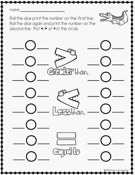 Free Greater Than Or Less Than Worksheets First Grade Math Second Grade Math Kindergarten Math Worksheets