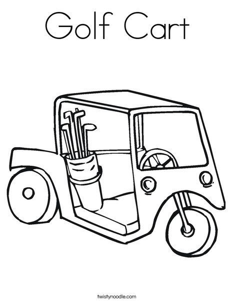 Golf Malvorlagen Golf Cart Coloring Page Twisty Noodle Transportation Cars Free