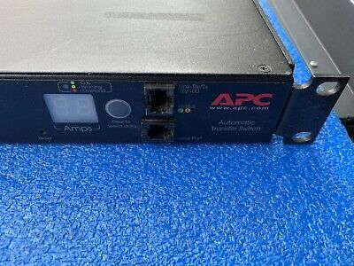 Apc Ap7750a 10 Outlet Automatic Transfer Switch Ats 100v 120v In 2020 Transfer Switch Apc Switch