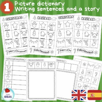 Christmas Picture Dictionary Writing Activities