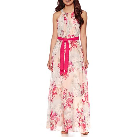0ed52cc3c481 R K Originals® Sleeveless Floral Chiffon Maxi Dress - JCPenney ...