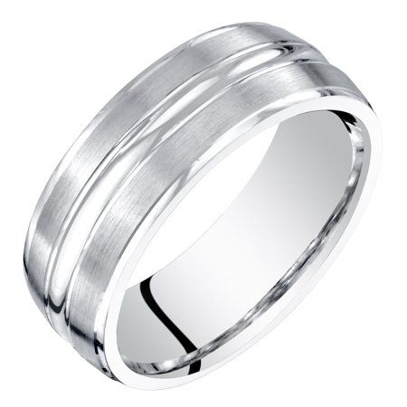 Jewelry Wedding Ring Bands Black Titanium Wedding Bands White