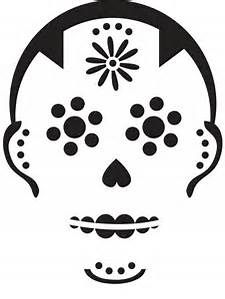Pumpkin Stencil  Sugar Skull  Carving Crafts   Dia De Los
