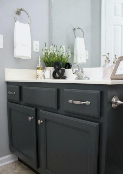 Diy Bathroom Cabinet Makeover In 2020 Bathroom Cabinet Makeover Bathroom Cabinets Diy Painting Bathroom Cabinets