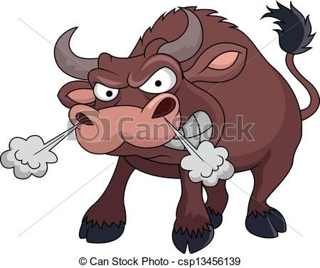 Angry Bull Cartoon Vector Stock Illustration Royalty Free Illustrations Stock Clip Art Icon Stock Clipart Cartoons Vector Bull Painting Cartoon Butterfly