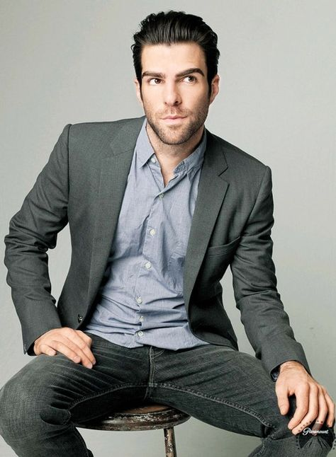 He doesn't need the pointy ears or the slanted eyebrows. Every time I see Zachary Quinto, I see Spock.