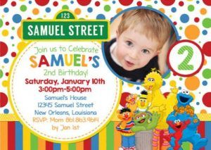 free sesame street birthday invitations