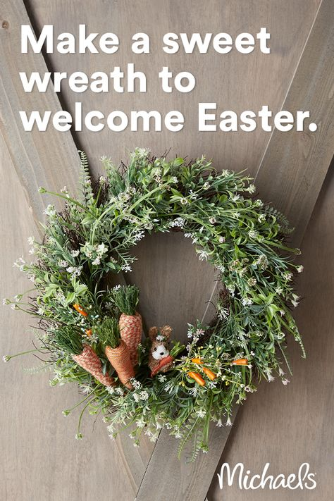 It is time to celebrate the season with this trendy Easter Carrot Greenery Wreath. It allows for personalization without a lot of effort.