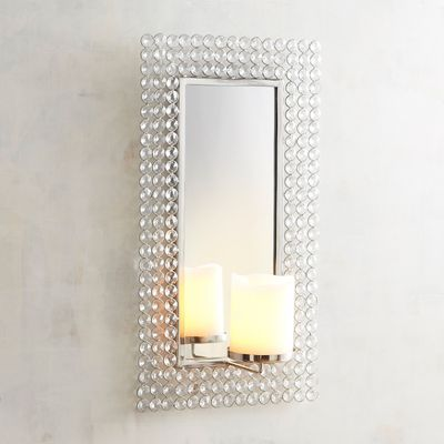 Let Candlelight Glitter Off The Crystal And Mirror Of Our Glamorous Wall Sconce For Instant Atmosph Candle Wall Sconces Candle Holder Wall Sconce Wall Candles