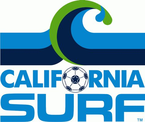 California Surf Primary Logo North American Soccer League California Surf Soccer League