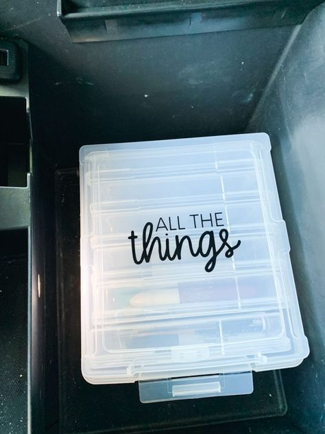 Car Organizer for your Console – use this container to make things more organized in your console! from thirtyhandmadeday… - New Site