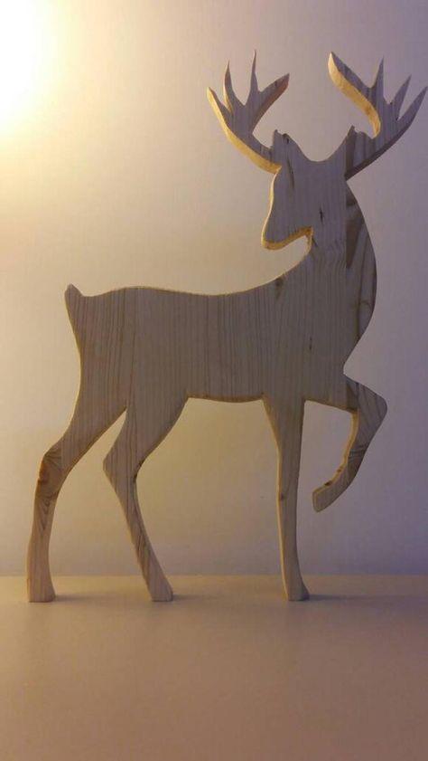 Noël nordique. Silhouette-Noël renne en bois décoration-bois | Etsy