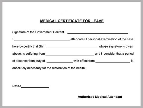 Medical-Certificate-Template Places to Visit Pinterest - medical certificate for sick leave
