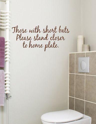 Bathroom Es Wall Decals, Funny Bathroom Decals