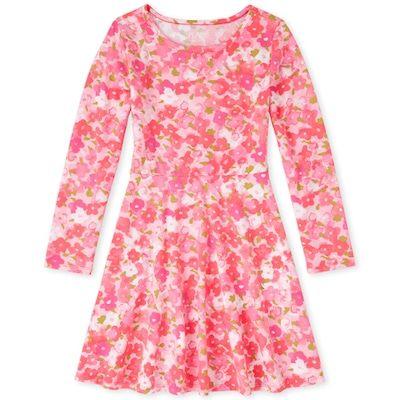 The Childrens Place Girls Print Skater Dress