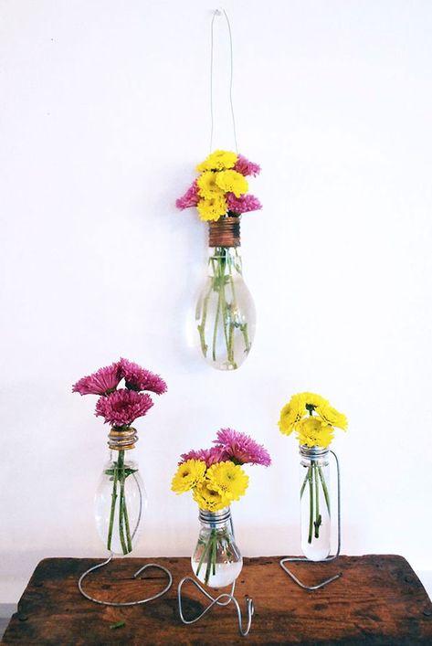 idea per riciclare le lampadine