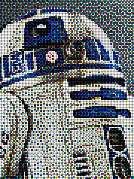 R2d2 Star Wars With Pixel Art Quercetti Pixel Art Minecraft Pixel Art Pixel Art Grid