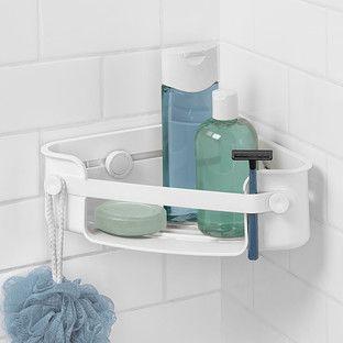 Umbra Flex Gel Lock Corner Bin Corner Shower Caddy Shower Organization Shower Storage
