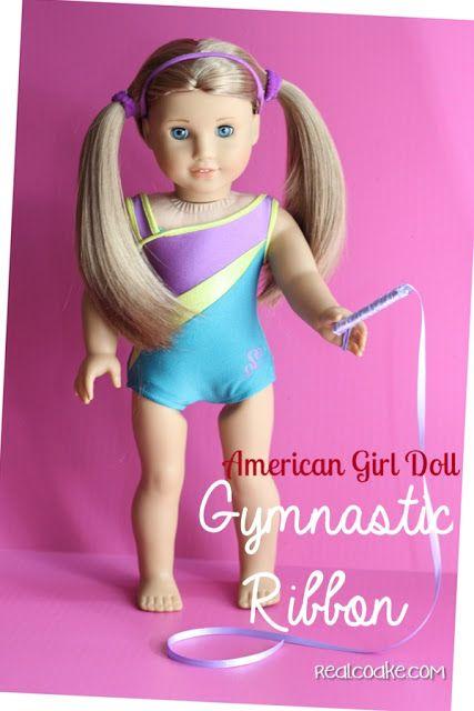 American Girl Doll Craft: DIY Gymnastic Ribbon! #americangirl #dolls