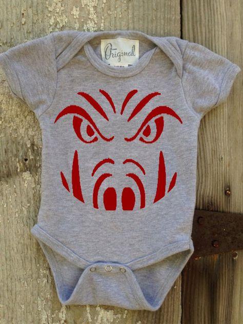 Razorback Face Bodysuit for Baby by IsaacOriginalDesigns on Etsy, $20.00