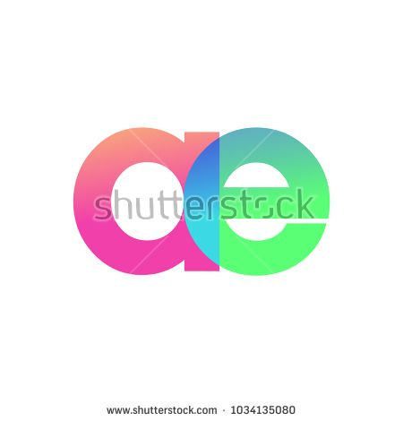 Initial Letter Ae Lowercase Logo Green Pink And Blue Modern And