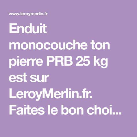 Enduit Monocouche Ton Pierre Prb 25 Kg Monocouche Enduit