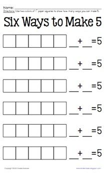 Build It and Break It Decomposing Numbers | | Kindergarten ...