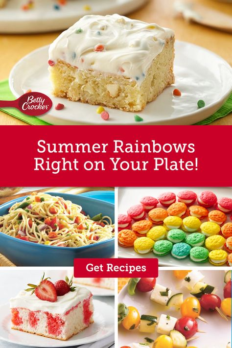 Betty's Summer Rainbows Right on Your Plate recipe collection is full of colorful foods perfect for the nice weather. Pin today and start summer off right.