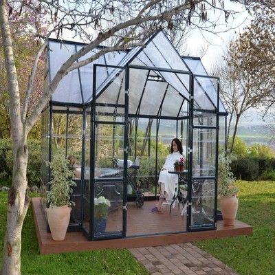 12 X10 Chalet Greenhouse Black Palram Victorian Greenhouses Backyard Greenhouse