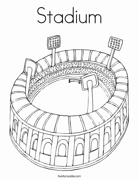 Football Field Coloring Page New Football Field Drawing At