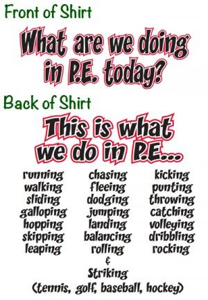 Best Pe Teacher Quotes Front What Are We Doing In Pe Physical