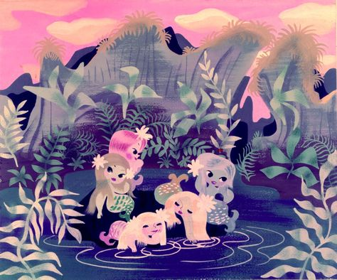 Peter Pan Mermaids - Mary Blair