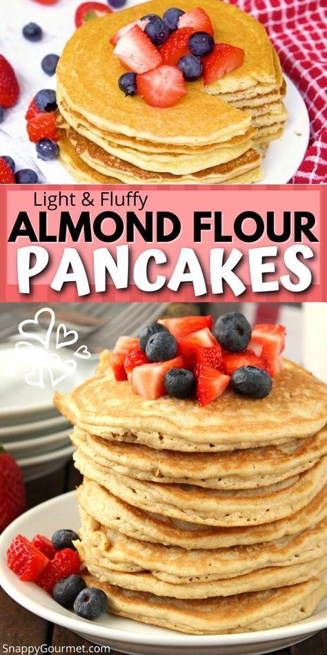 ALMOND FLOUR PANCAKES RECIPE @SnappyGourmet.com