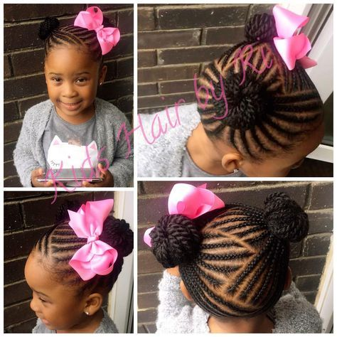 85 Mentions J Aime 2 Commentaires Kids Hair By Ri Kidshairbyri Sur Instagram 2 Buns With A Lovabow Kids Hairstyles Braids For Kids Little Girl Braids