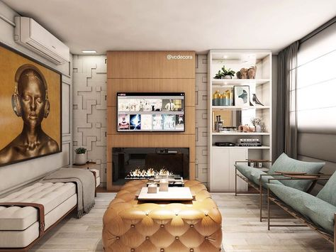 ✨Aquele projeto que estou apaixonada no momento 😍 Esse apartamento já tinha a marcenaria pronta e tive que adequar o layout com base nisso.…