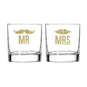 Mr. and Mrs. Cocktail Glass Set by Furbish. This is my favorite go-to gift for newlyweds. Oddly enough, I've never purchased a set for myself. Maybe I should get a pair this Valentine's Day for me and my new Mr.