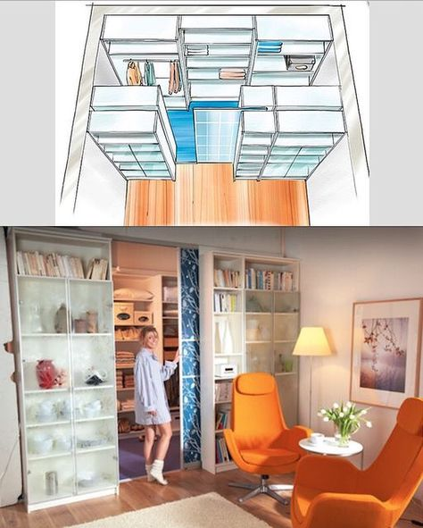 draft for a walk in closet with Ikeau0027s Pax and Billy The sliding - schlafzimmerschrank nach maß