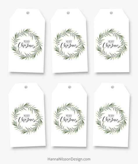 Printable tags for your Christmas gifts and decor – Hanna Nilsson Design