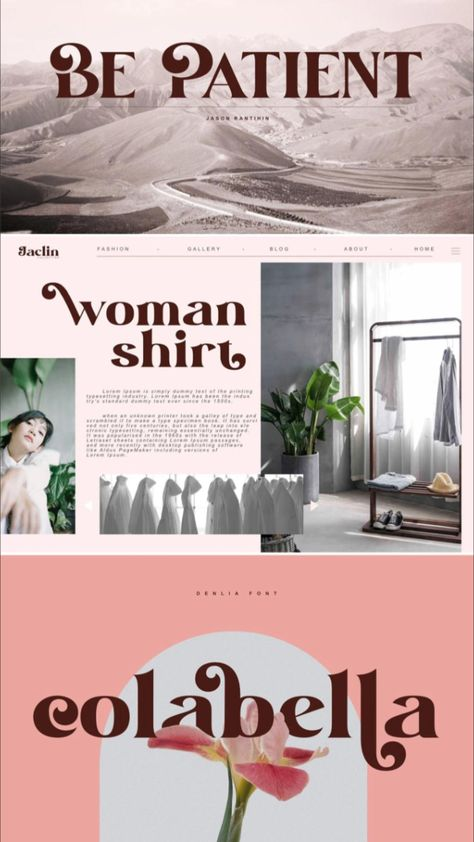 Denlia typographic design by Design Studio
