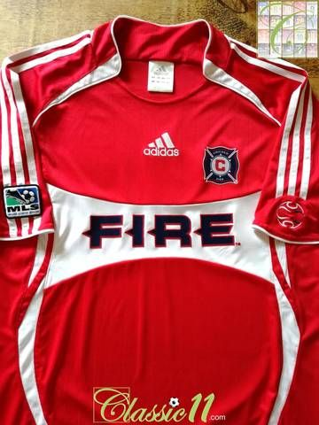 great fit 68c13 a5af1 Official Adidas Chicago Fire home football shirt from the ...