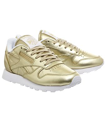release date elegant shoes classic styles Reebok Classic Leather (w) Light Gold Face - Hers trainers ...