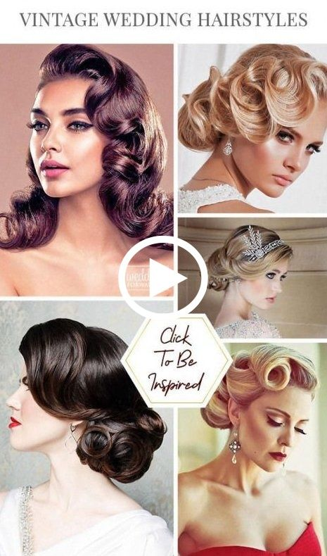 Vintage Hairstyles Elegant Vintage Hairstyles Shoulder Length Vintage Hairstyles 50s Vintagehairstyles Hair Styles Vintage Wedding Hair Wedding Hairstyles