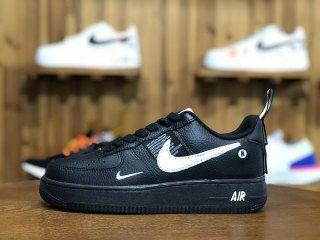 NIKE AIR FORCE 1 '07 LV8 UTILITY Nike air force 1 '07 LV8 utility BLACKWHITEBLACKTOUR YELLOW aj7747 001