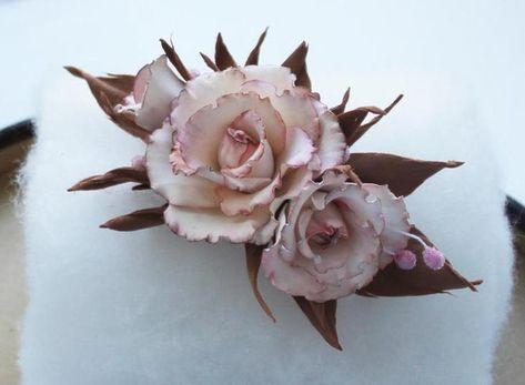 Нежнейшие розы из фоамирана   Цветы из полимерной глины ...