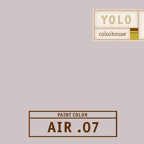 YOLO Colorhouse AIR .07:  Inspiried by the earthiness of lavendar fields, AIR .07 is a beautiful hue for both urban living rooms and country kitchens. $35.95